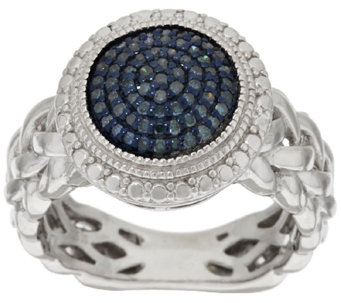Round Pave' Color Diamond Ring, Sterling, 1/4 cttw, by Affinity - J317208
