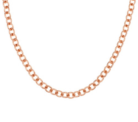"""As Is"" Bronzo Italia 18"" Solid Polished Status Oval Link Necklace"