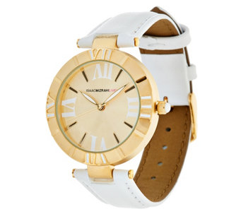 Isaac Mizrahi Live! Strap Atlas Watch - J321208
