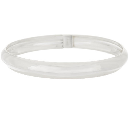 """As Is"" Silver Style Sterling Bold Polished Flexible Bangle"