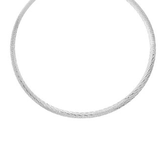 "UltraFine Silver 18"" Reversible Omega Necklace 18.00g - J326508"