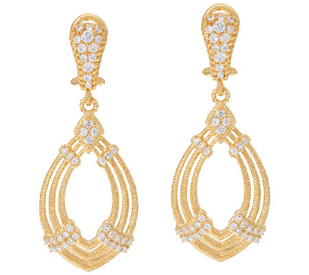 Judith Ripka 14K Clad 1.00 cttw Diamonique Drop Earrings