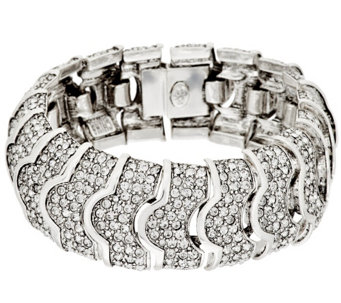 """As Is"" Joan Rivers Pave' Crystal Heirloom Bracelet - J331708"