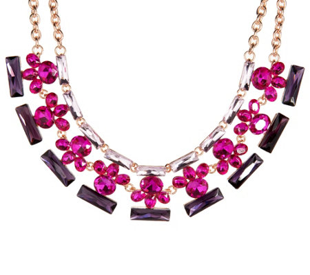 Isaac Mizrahi Live! Crystal Statement Necklace