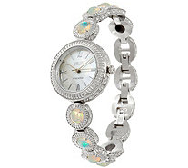 Ecclissi Facets Stainless Steel Ethiopian Opal Adjustable Watch - J334308