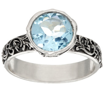 """As Is"" Sterling Silver 1.30ct Gemstone Solitare Lace Ring by Or Paz - J334808"