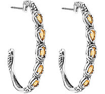 Carolyn Pollack Simply Fabulous Choice of Colors Hoop Earring - J376608