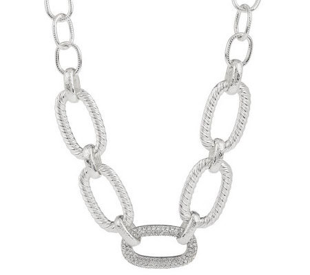 "Joan Rivers Chain of Command Pave' Link 20"" Necklace"