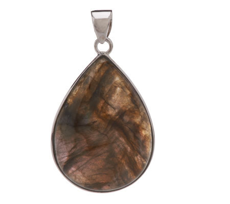Lee Sands Pear Shape Labradorite Sterling Pendant