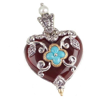 Barbara Bixby Sterling & 18K Multi-Gemstone Heart Enhancer