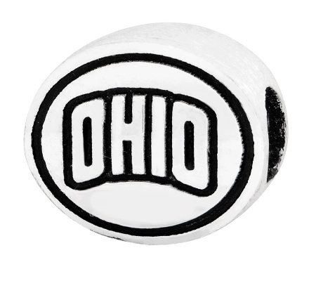 Sterling Silver Ohio University Bead