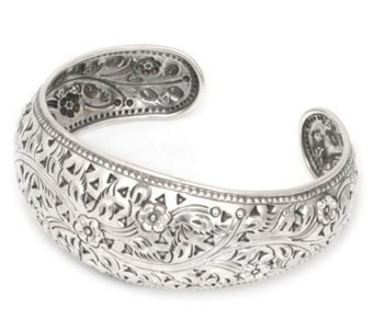 "Novica Artisan Crafted Sterling ""Sweet Jasmine""Cuff - J303909"
