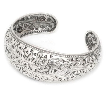 "Novica Artisan Crafted Sterling ""Sweet Jasmine""Cuff"