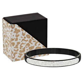 Stainless Steel Crystal Bangle with Gift Box - J317409