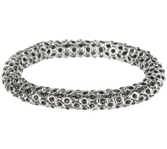 Stainless Steel Crystal Popcorn Stretch Bracelet - J319709