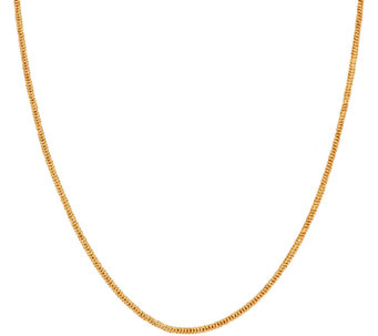 "Veronese 18K Clad 24"" Adjustable Snake Chain Necklace - J323809"