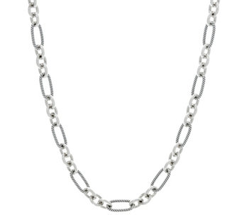 "Carolyn Pollack Sterling Silver Signature 18"" Link Chain 25.0g - J330309"