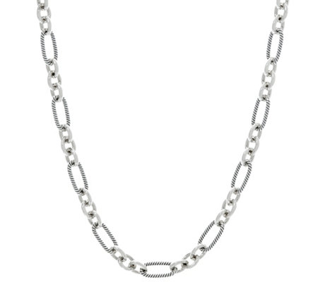 "Carolyn Pollack Sterling Silver Signature 18"" Link Chain 25.0g"
