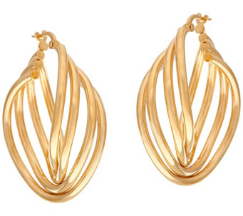 """As Is"" Veronese 18K Clad Multi-Hoop Earrings - J331409"