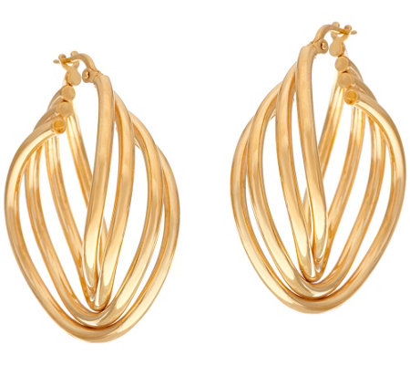 """As Is"" Veronese 18K Clad Multi-Hoop Earrings"