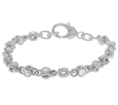 """As Is"" Judith Ripka 100-Facet Diamonique 6.10ct Large RollingBracelet"