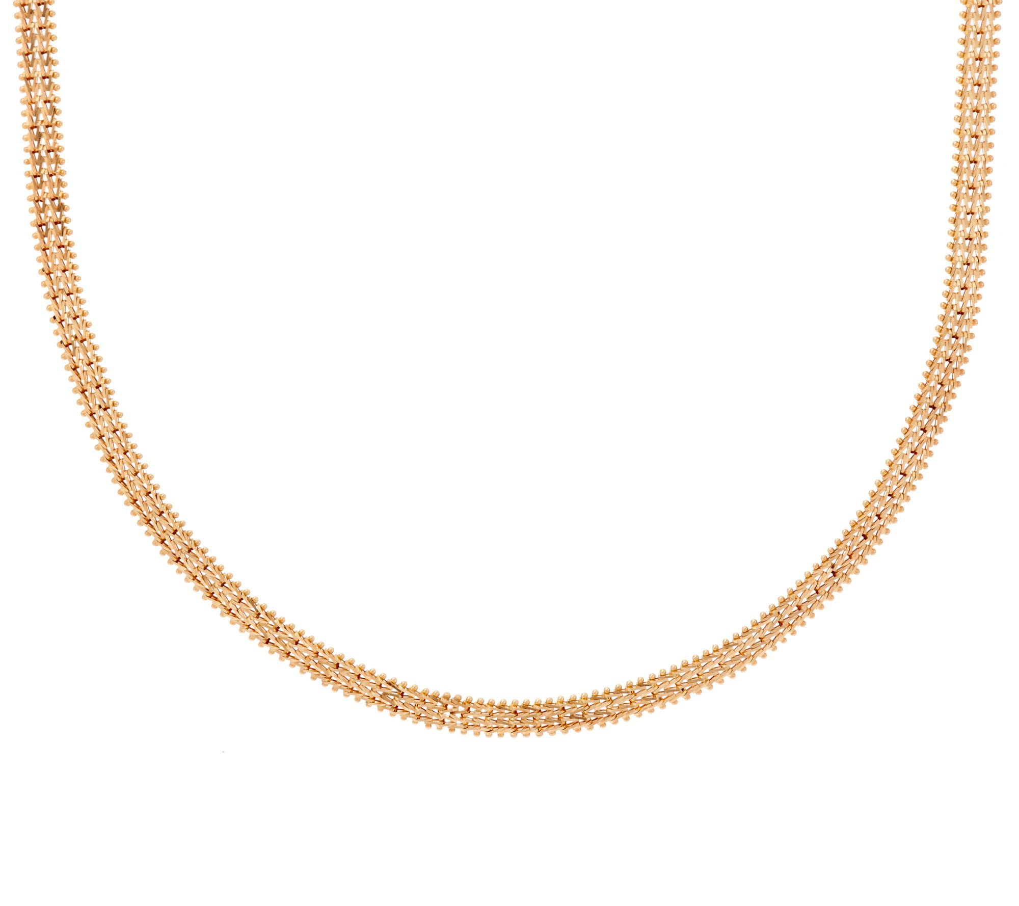 Imperial Gold 18 Yellow Woven Wheat Necklace 14K 255g Page 1