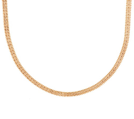"Imperial Gold 18"" Woven Wheat Necklace, 14K, 25.5g"