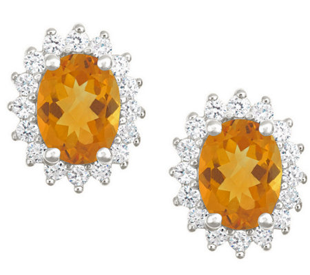 Premier 2.00cttw Oval Citrine & Diamond Earrings, 14K