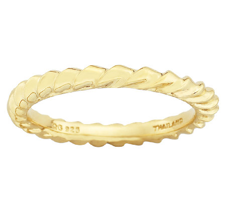 Simply Stacks Sterling & 18K Gold PlatedTwisted Ring