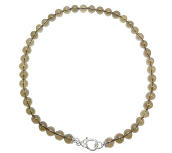"Judith Ripka Sterling and Smoky Quartz Bead 18""Necklace - J339809"