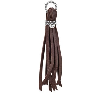 Leather and Sterling Tassel Charm by American West - J343309