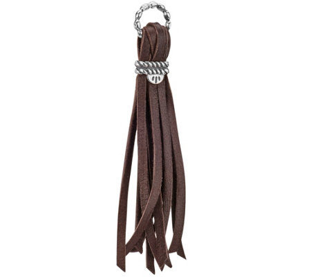 Leather and Sterling Tassel Charm by American West