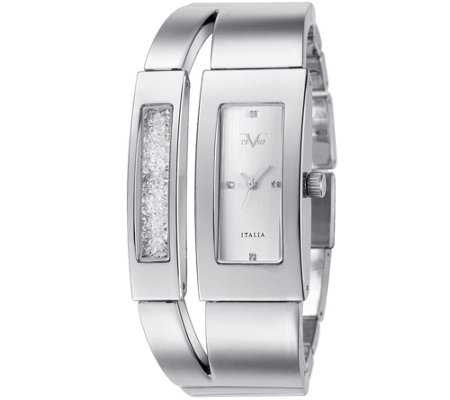 V19.69 Italia Women's Silvertone Dual-Bangle Watch