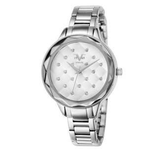 Women's Silvertone Quilt-Dial Watch - J344509