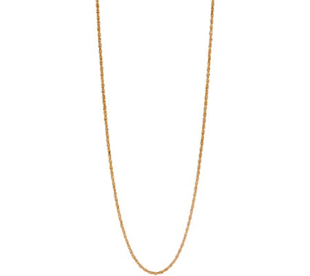 "14K Gold 24"" Rope Chain Necklace, 12.4g"