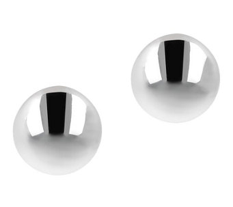 UltraFine Silver 12mm Button Earrings - J109410