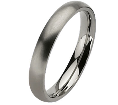 Titanium 4mm Brushed Ring - Unisex