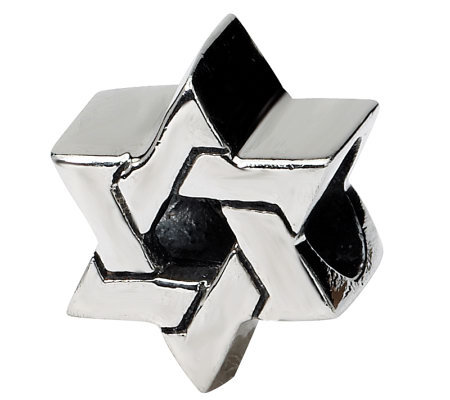 Prerogatives Sterling Silver Star of David Bead