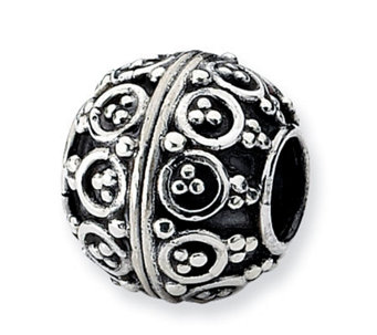 Prerogatives Sterling Dots and Lines Artisan Bead - J113310