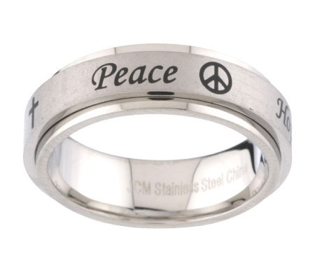 Steel by Design Inspirational Message Ring