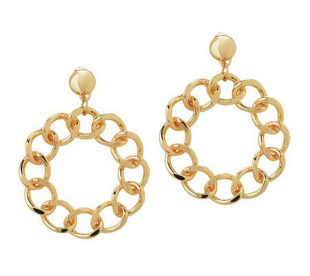 Linea by Louis Dell'Olio Curb Link Hoop Earrings