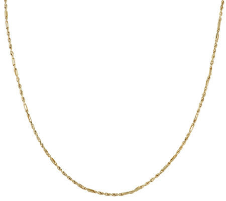 "36"" Diamond Cut Fancy Rope Necklace 14K Gold, 3.5g"