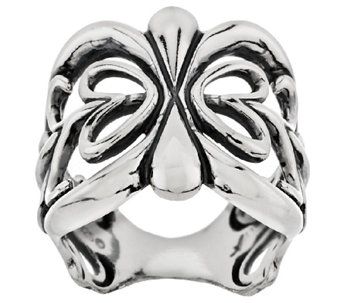 Sterling Scroll Design Band Ring by American West - J295110