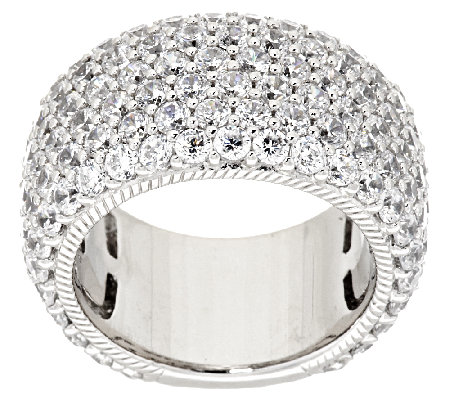 Judith Ripka Sterling 5.40 ct tw Diamonique Pave Band Ring