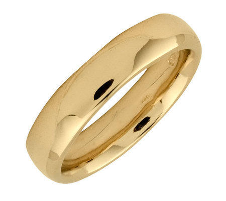 Simply Stacks Sterling 18K Yellow Gold-Plated 4.25mm Ring