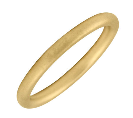 Simply Stacks 18K Yellow Gold-Plated Sterling Ring - Satin