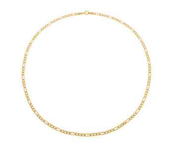 "Milor 7-1/4"" Polished Figaro Bracelet, 14K Gold5.1g - J307910"