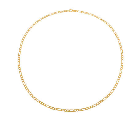 "Milor 7-1/4"" Polished Figaro Bracelet, 14K Gold5.1g"