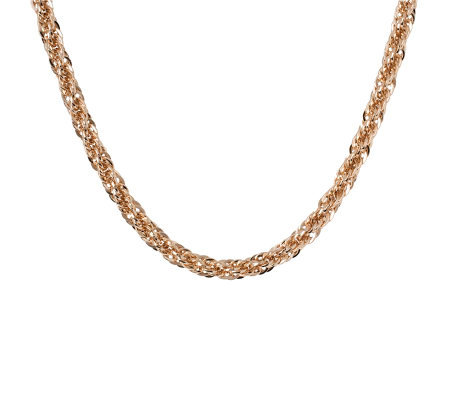 "Bronzo Italia 16"" Polished Bold Singapore Necklace"