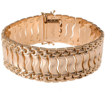 "Bronzo Italia 7-1/4"" Polished Fancy Link Bracelet - J313710"